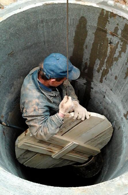 Как мы выполняем чистку колодца в Москве