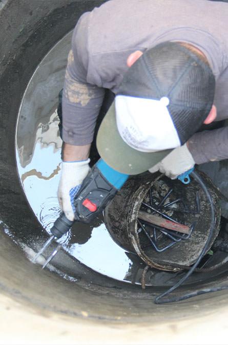 Как мы выполняем ремонт колодцев в Москве